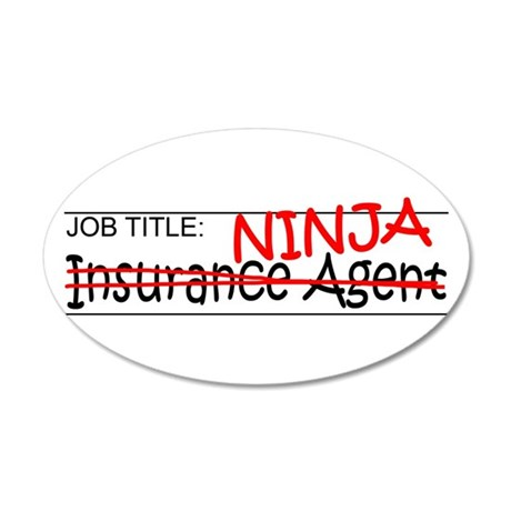 Job Ninja Insurance 20x12 Oval Wall Decal