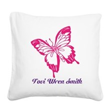 Butterfly PersonalizedSquare Canvas Pillow