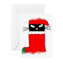 CHRISTMAS KITTY Greeting Cards (Pk of 10)