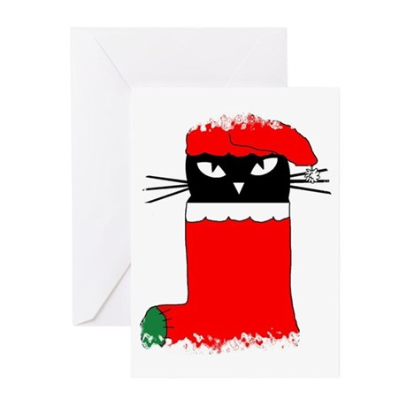 CHRISTMAS KITTY Greeting Cards (Pk of 10)