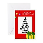 NUMBER XMAS TREE Greeting Cards (Pk of 10)