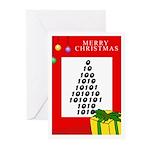 NUMBER XMAS TREE Greeting Cards (Pk of 10)