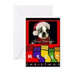 CHRISTMAS BOSTON TERRIER Cards (Pk of 10) NICE