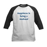 Husband : Happiness Kids Baseball Jersey