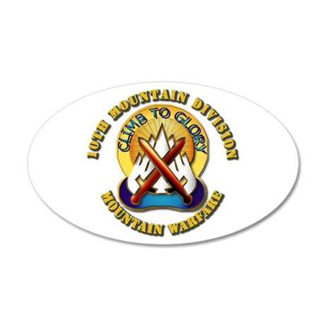 Emblem - 10th Mountain Division - DUI 20x12 Oval W