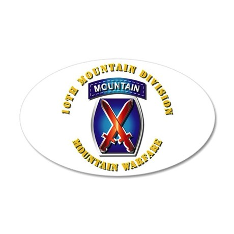 Emblem - 10th Mountain Division - SSI 20x12 Oval W