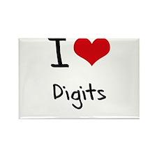 I Love Digits Rectangle Magnet