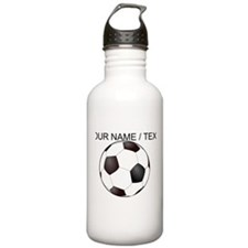 Custom Soccer Ball Water Bottle