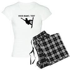 Custom Snowboarder Silhouette Pajamas