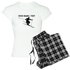 Custom Skiing Silhouette Pajamas
