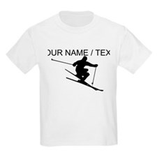 Custom Skiing Silhouette T-Shirt