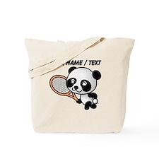 Custom Panda Tennis Player Tote Bag