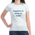 Auntie : Happiness Jr. Ringer T-Shirt