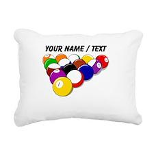 Custom Eight Ball Rack Rectangular Canvas Pillow