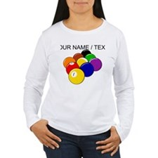 Custom Nine Ball Rack Long Sleeve T-Shirt