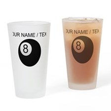 Custom Eight Ball Drinking Glass