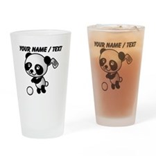 Custom Panda Golfer Drinking Glass