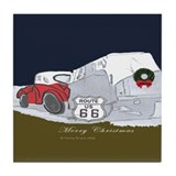Route 66 Christmas Tile Coaster