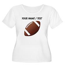 Custom Football Plus Size T-Shirt