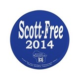 "Scott-Free 2014 3.5"" Button"