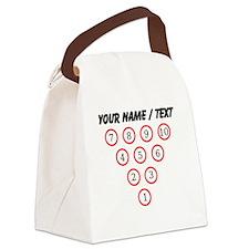 Custom Bowling Pin Setup Canvas Lunch Bag