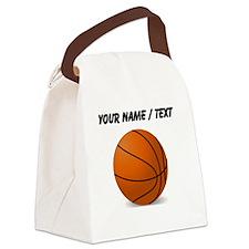 Custom Orange Basketball Canvas Lunch Bag