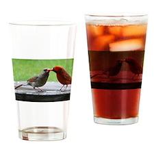 Kissing Cardinals Drinking Glass