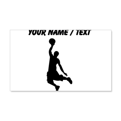 Custom Black Basketball Dunk Silhouette Wall Decal