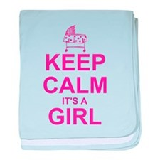 Keep Calm It's A Girl baby blanket