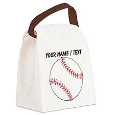 Custom Baseball Canvas Lunch Bag