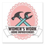 "Women's Work Logo Square Car Magnet 3"" x 3"""