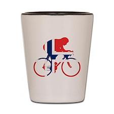 Norwegian Cycling Shot Glass