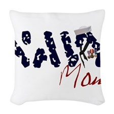 navymom.jpg Woven Throw Pillow