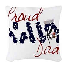 proudnavydad.jpg Woven Throw Pillow