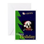 HAPPY HOLIDAY DOG CHRISTMAS Cards (Pk of 10)