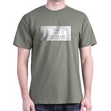 Via dei Coronari, Rome - Italy T-Shirt