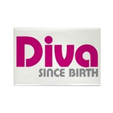 Diva Since Birth Rectangle Magnet (100 pack)