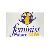 Feminist Future NOW Logo Rectangle Magnet
