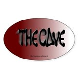 The Cave oval sticker