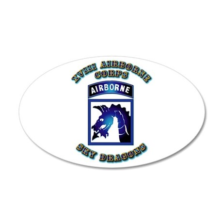 XVIII Airborne Corps - SSI 35x21 Oval Wall Decal