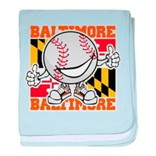 Baseball Dude Baltimore baby blanket