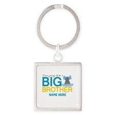 Add Name Big Brother Square Keychain