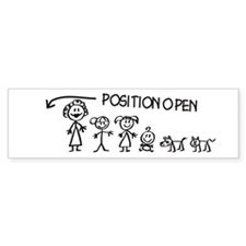 Stick Figure Family Man Position Open Bumper Sticker
