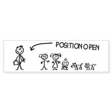 Stick Figure Family Woman Position Open Bumper Sticker