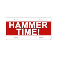 Cute Hammer Aluminum License Plate
