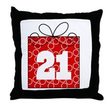 21st Birthday Mod Gift Throw Pillow