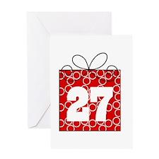 27th Birthday Mod Gift Greeting Card