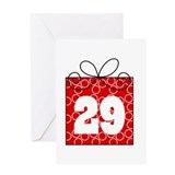 29th Birthday Mod Gift Greeting Card