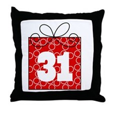 31st Birthday Mod Gift Throw Pillow