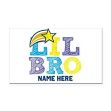 Add Name Lil Bro Rectangle Car Magnet